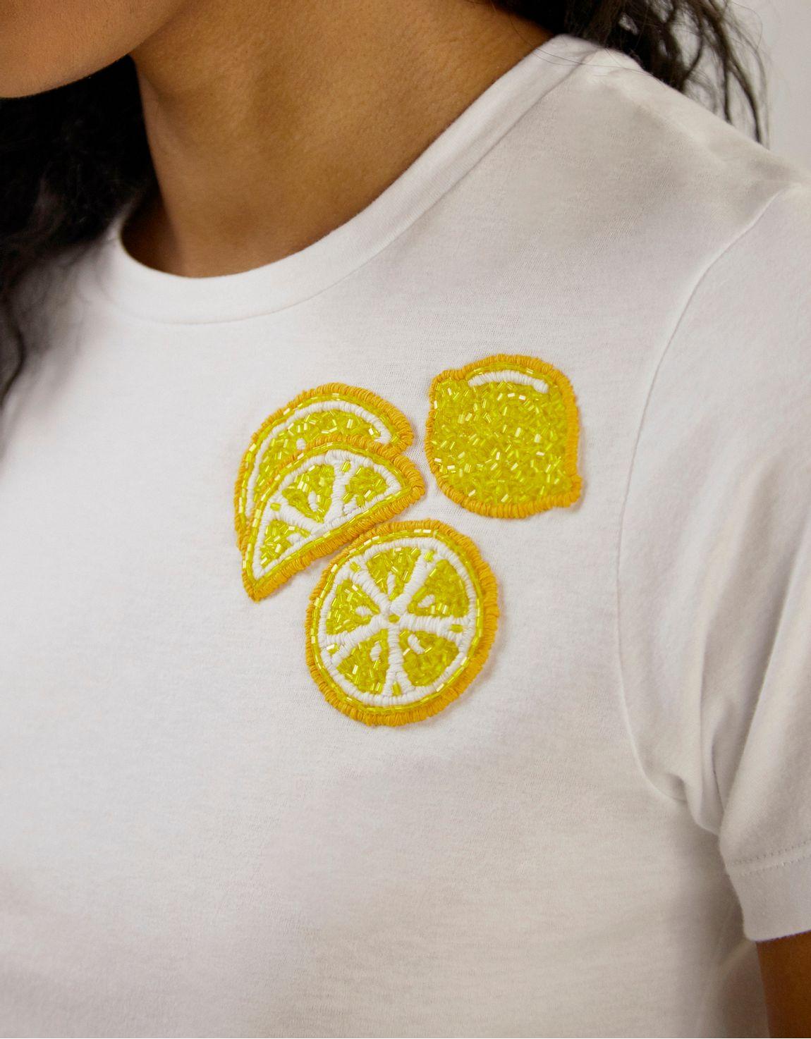 T-shirt limao bordado