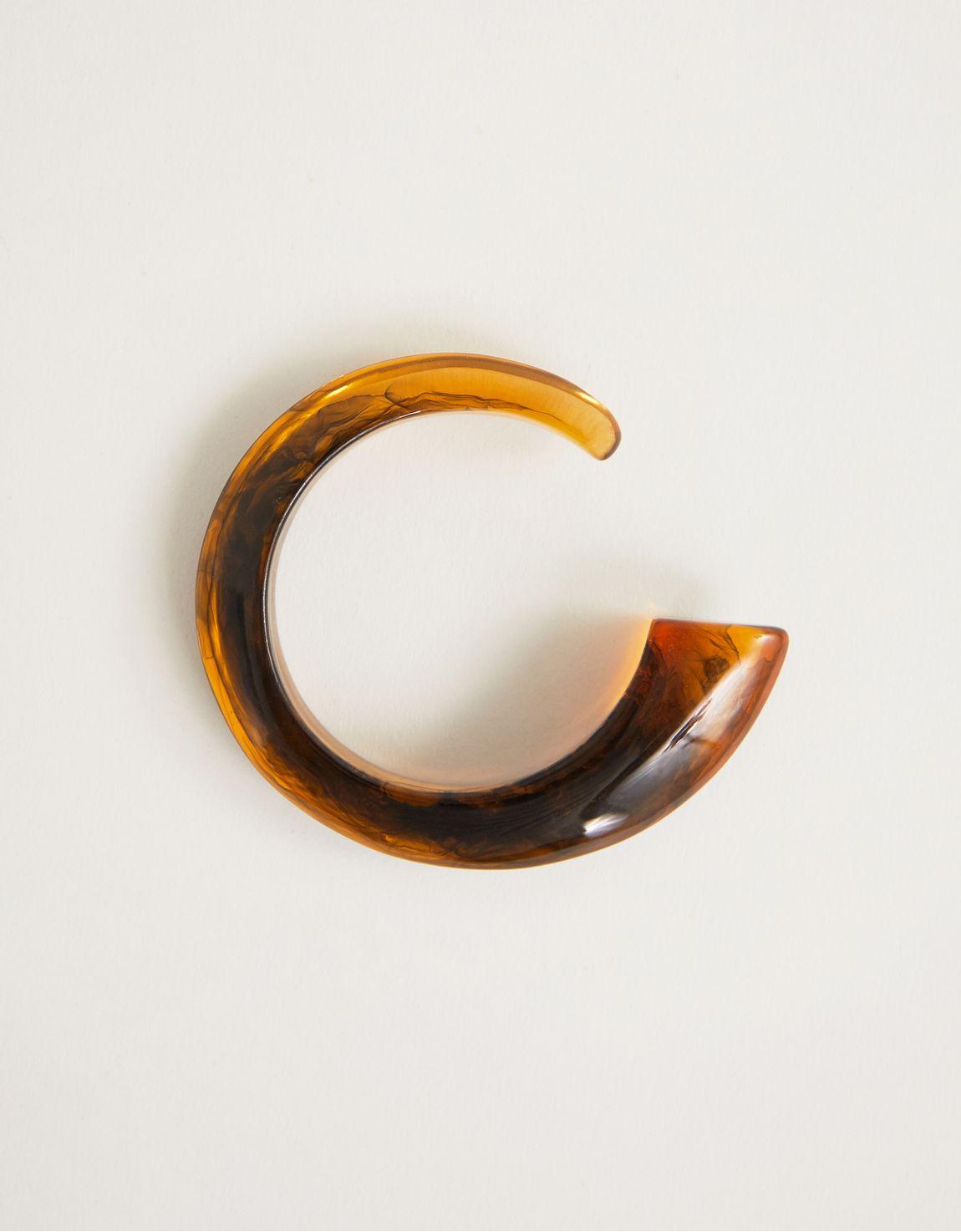 Bracelete em resina tartaruga