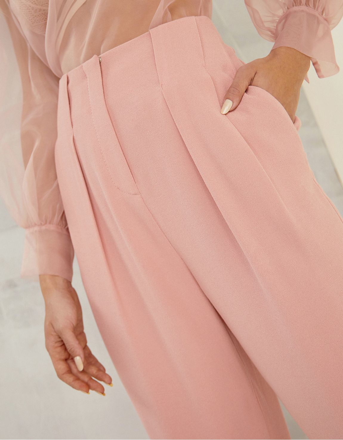 Calça cintura alta slim