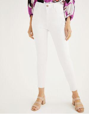 Calça color skinny branca
