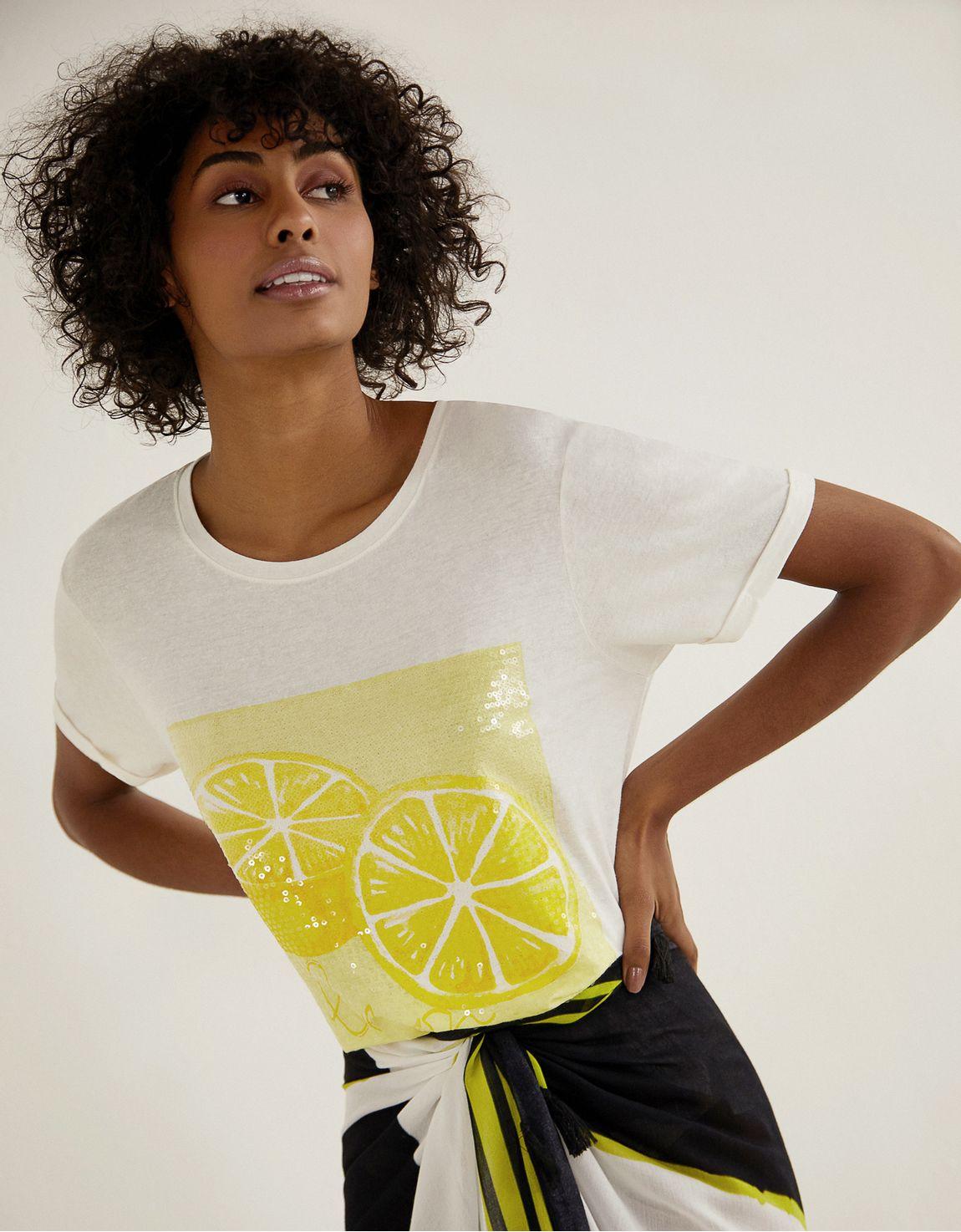 T-shirt cartaz paete limao