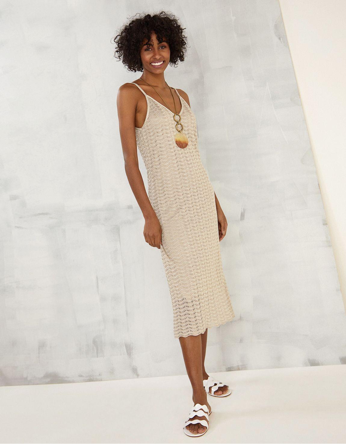 Vestido tricot lurex