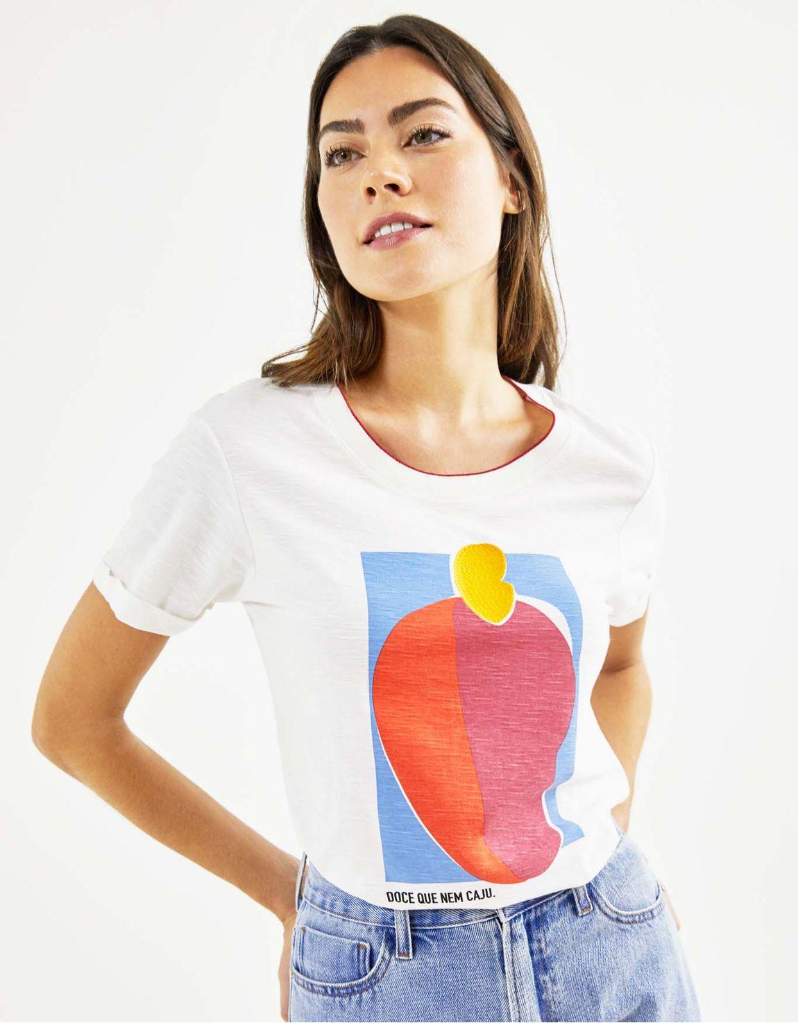 T-shirt doce que nem caju