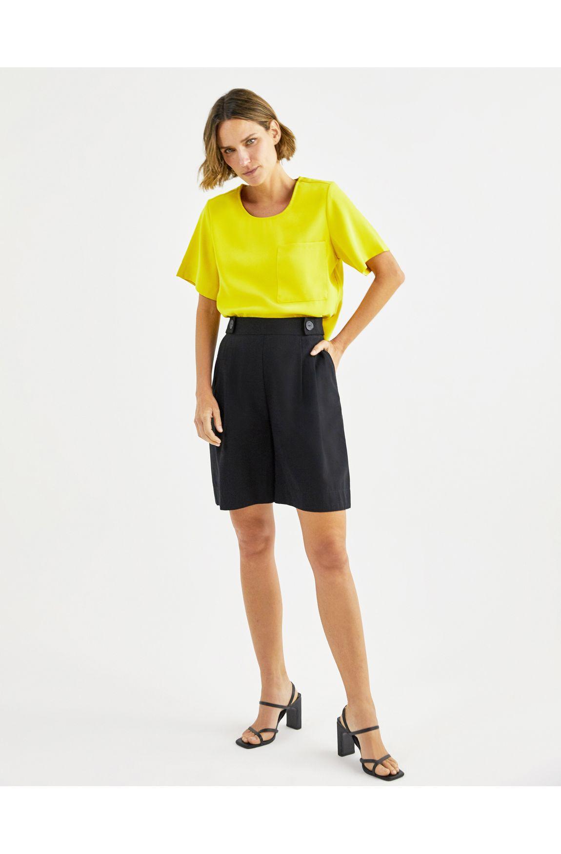T-shirt crepe amarela