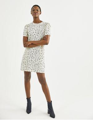 T-shirt dress estampa poá