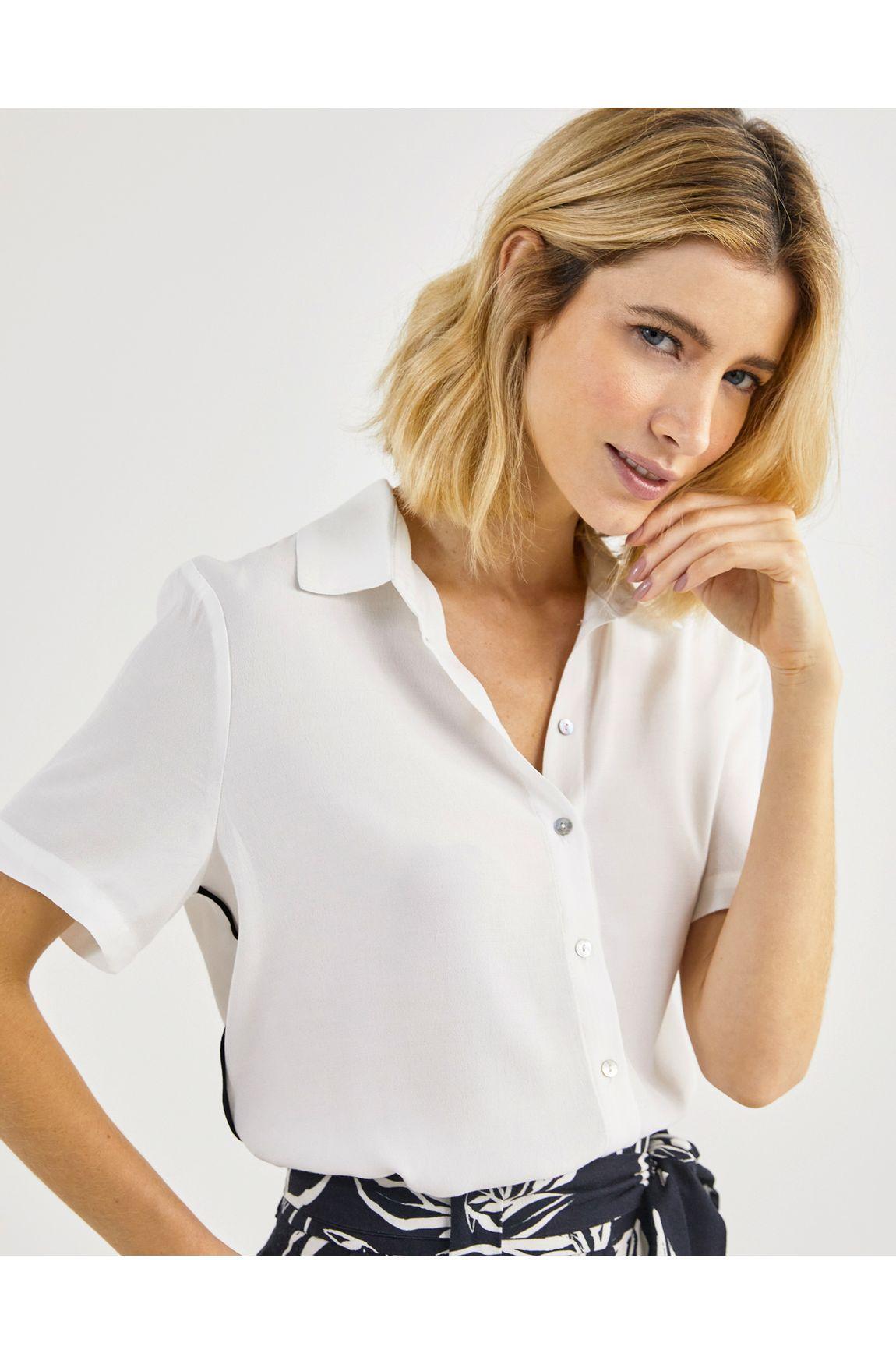Camisa manga curta crepe vivada
