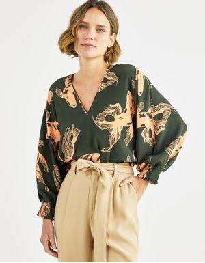 Blusa manga ampla carpa