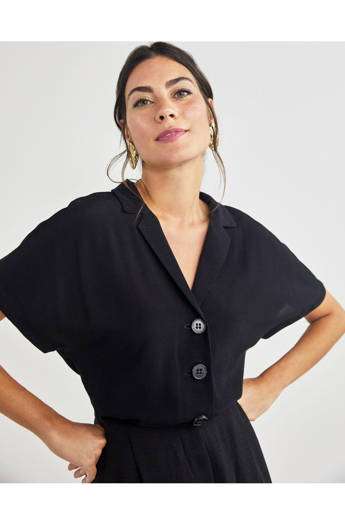 Camisa quadrada manga curta