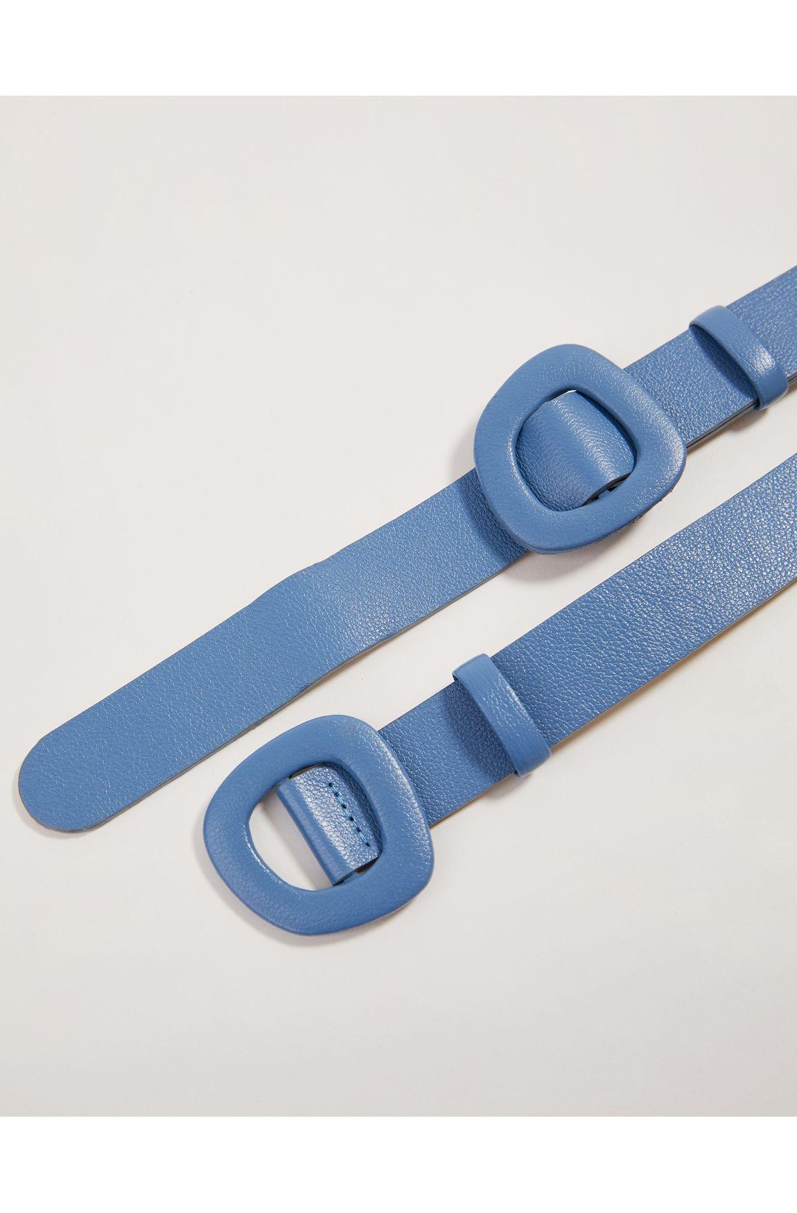 Cinto fivela dupla azul