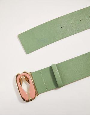 Cinto verde claro fivela carpas
