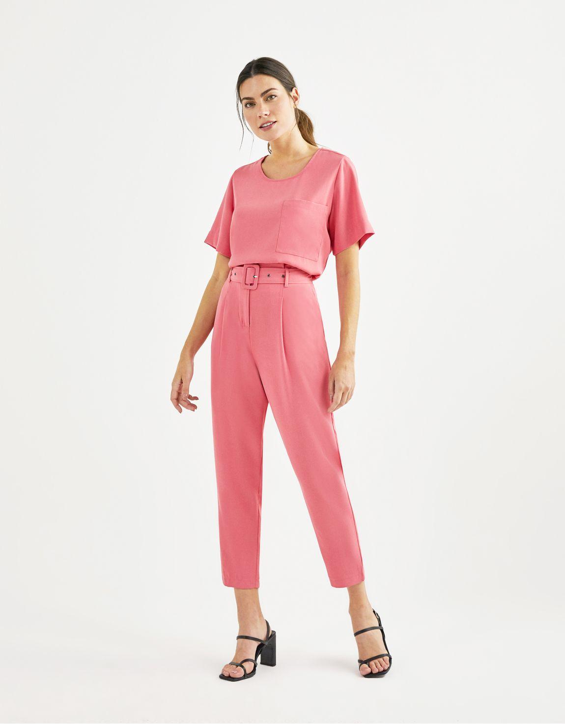 T-shirt crepe rosa