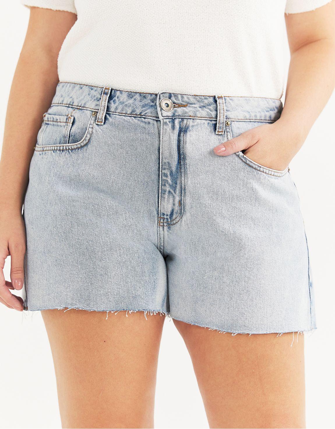 Shorts jeans tradicional barra a fio