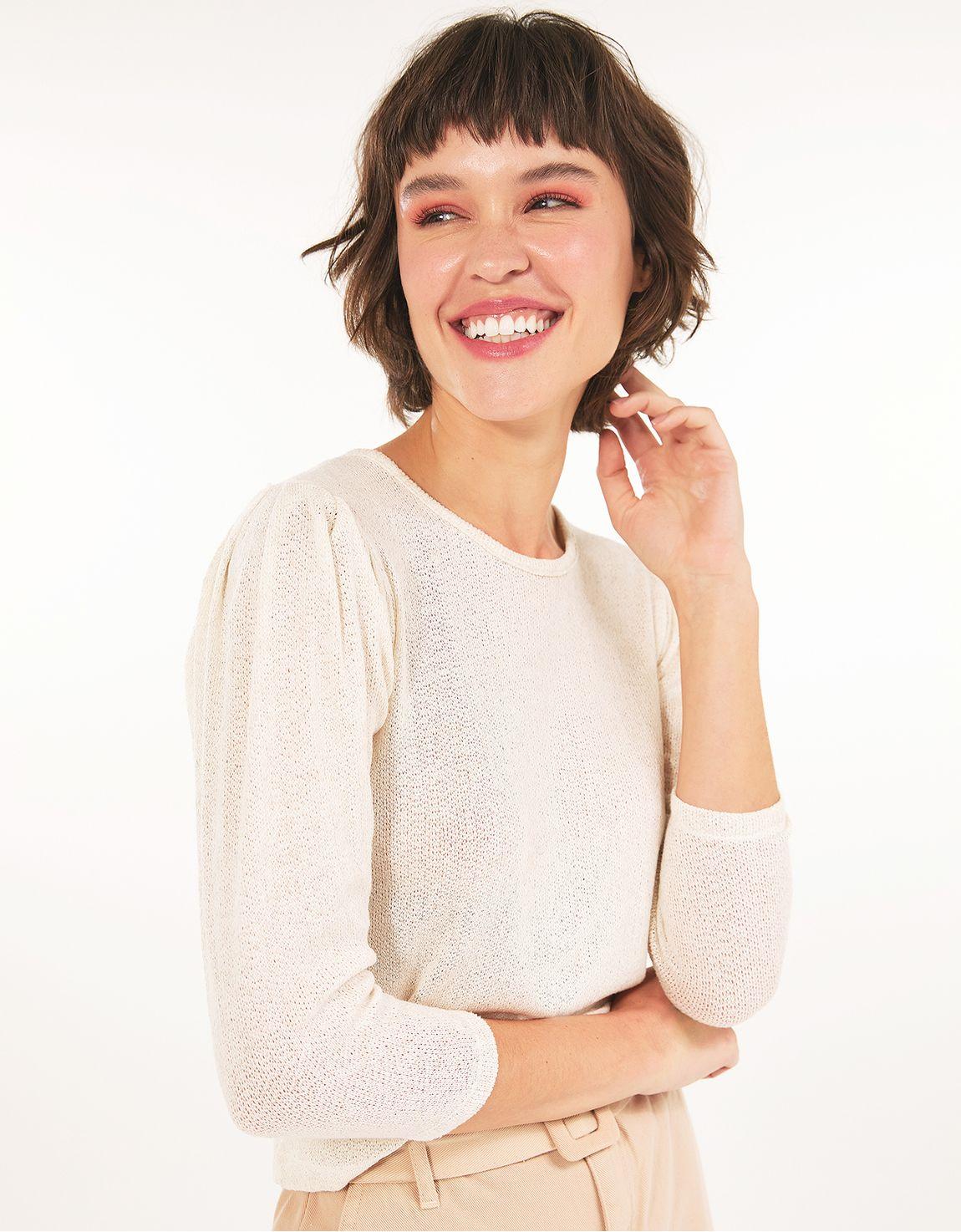 Blusa ponto tricot