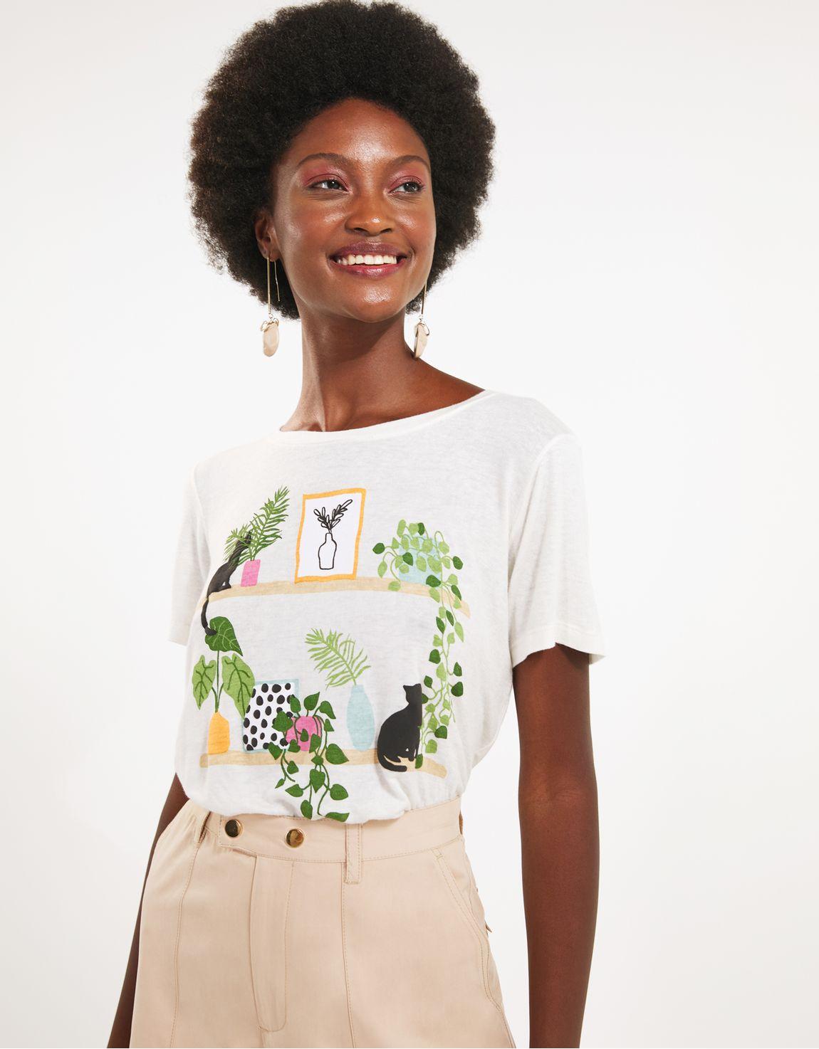 T-shirt gato ambiente