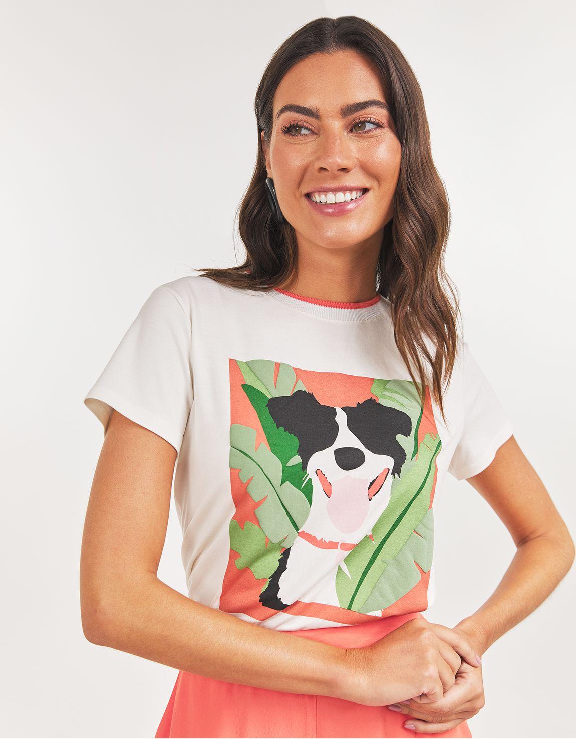 T-shirt cachorro cartaz