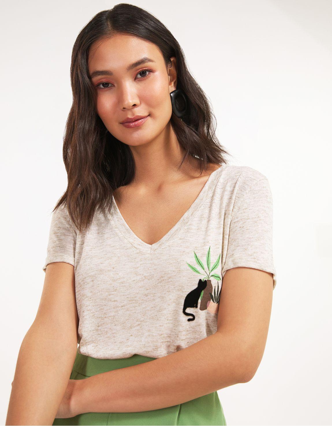 T-shirt gato vaso