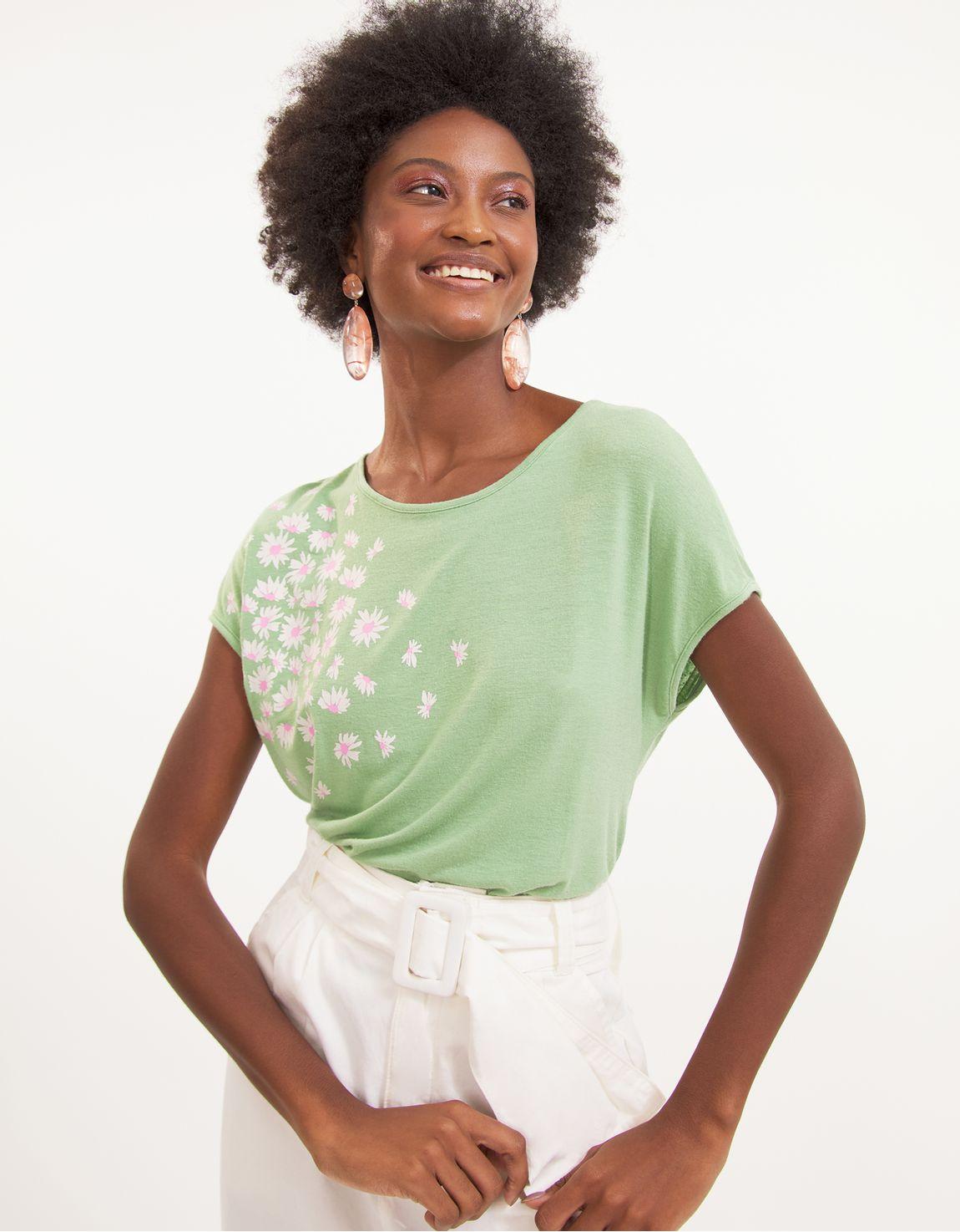 T-shirt margaridas ombro